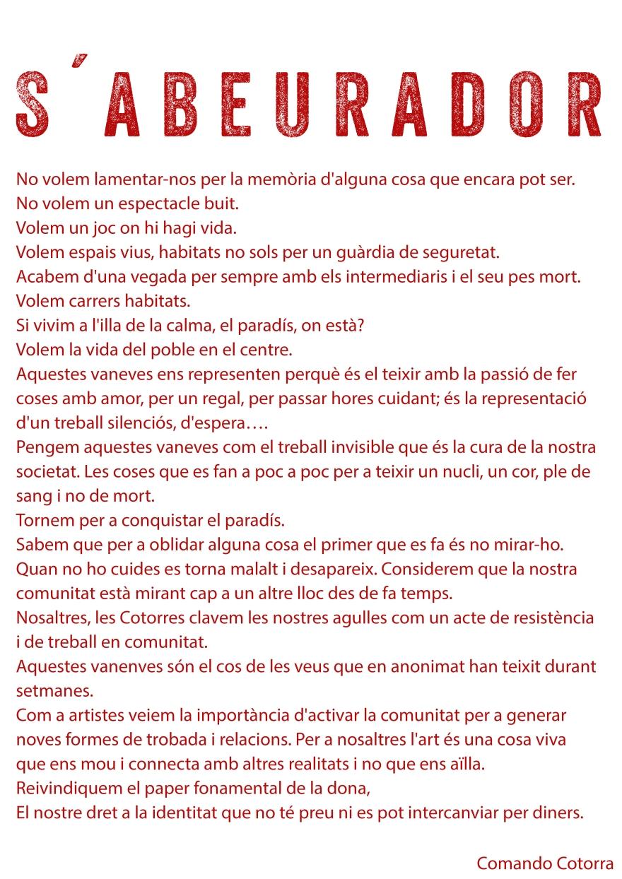 Manifiesto - Catalán